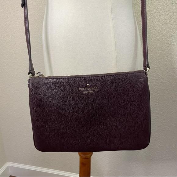 Kate Spade Purple Leather Crossbody Purse
